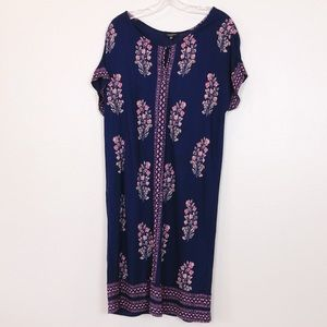 Lucky Brand Navy and Pink Shift Dress